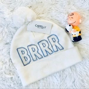 "Capelli Ivory ""BRRRR"" Beanie Hat OS New Tag"